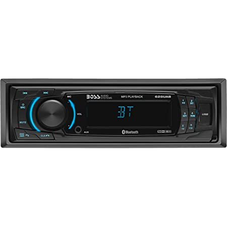 BOSS Audio Systems 625UAB Multimedia Car Stereo - Bluetooth Audio And Hands Free Calling, Single Din, MP3 Player, No CD/DVD Player, USB Port, AUX Input, AM/FM Radio Receiver