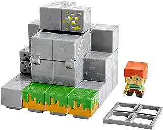 Mattel Minecraft Mini Figure Waterfall Wonder Environment Set