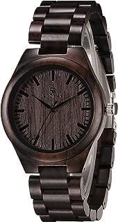 Wood Watch for Men Quartz Wooden Mens Wrist Watch Handmade Watch Gift Box Watch Case Gift for Men