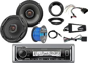Kenwood Marine Digital Media Bluetooth Receiver w/ Dash Kit, 2x JBL 6.5