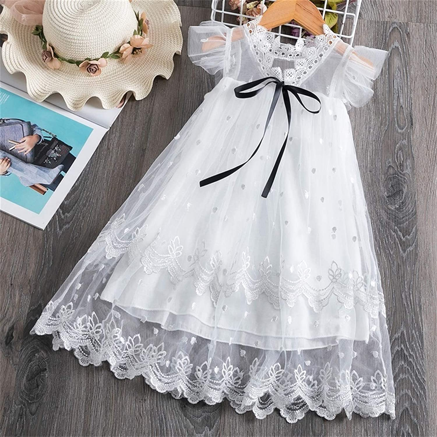 Comfortable and Exquisite Dress Princess Girls Dress Girls Clothes Children Clothing Summer Party Tutu Kids Dresses for Girls Toddler Girls Casual Dress 3 8T (Color : Style 8 White, Kid Size : 4T)