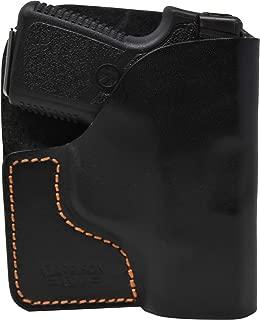 Garrison Grip Premium Stitch Black Italian Leather Pocket Holster for Kahr P380, CW380