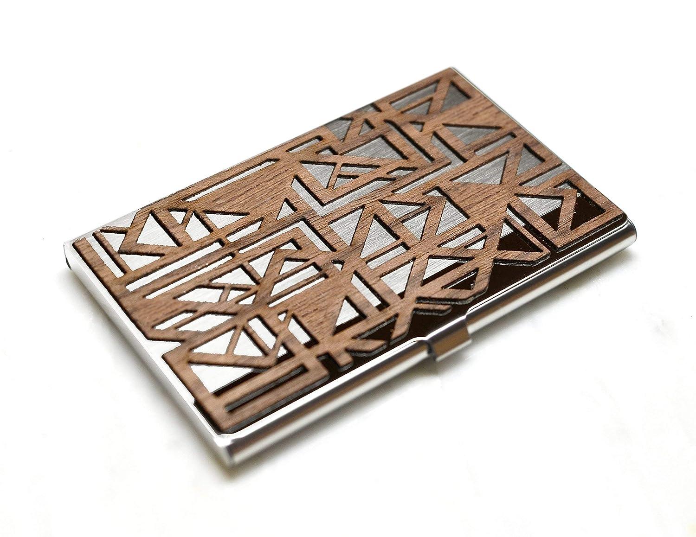 Wood business card holder SALENEW very popular! favorite - case Geometric Triangl