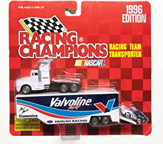 1996 Racing Champions 1:64 Diecast Vehicle - Valvoline Racing Team Transporter Truck & Car (3 Pieces)