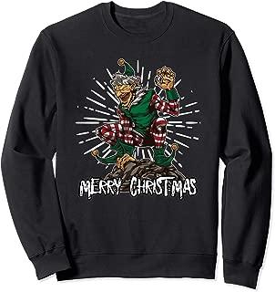 Evil Elf Wants To Interrupt Your Family Reunion - Bad Xmas Sweatshirt