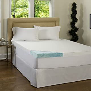 Beautyrest 3-inch Gel Memory Foam Mattress Topper amp; Waterproof Cover - Queen - Deluxe Mattress Pad For Luxury Bedding. Dive Into Pristine Support And Comfort On Your Bed.