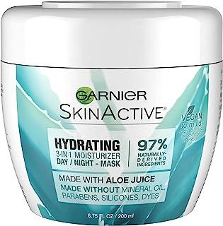Garnier SkinActive 3-in-1 Face Moisturizer with Aloe, For Dry Skin, 6.75 fl. oz.