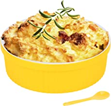1.5 Quart Large Souffle Dish – 48 Oz Large Ceramic Round Ramekins for Baking Soufflé Dishes, Bakeware for Pasta, Pot Pie, ...
