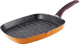 Bergner BGIB-3081 Sartén Grill, en Acero de Carbono, 28 cm, Naranja