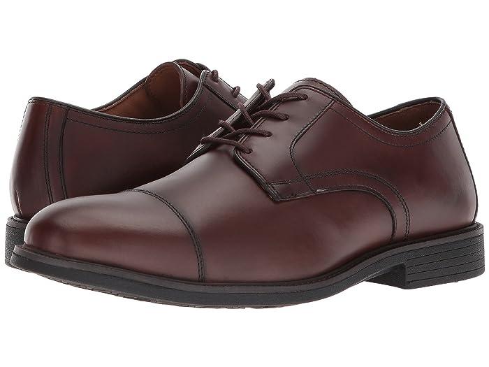 Johnston and Murphy  Waterproof XC4 Hollis Cap Toe Dress Casual Oxford (Oak Waterproof Full Grain) Mens Plain Toe Shoes