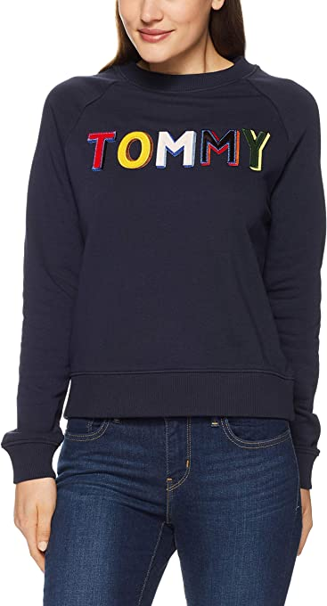 Tommy Hilfiger Women's Tommy Design Oversized Sweatshirt