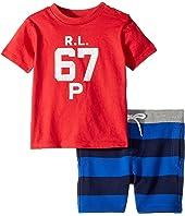 Ralph Lauren Baby Cotton T-Shirt & Shorts Set (Infant)