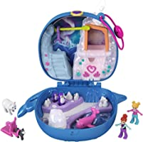 Polly Pocket Freezin' Fun Narwhal Compact with Fun Reveals, Micro Polly and Lila Dolls, Husky Dog & Sled, Polar Bear...