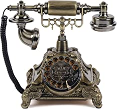 $71 » Retro Rotary Phone, Vintage Rotary Dial Telephone Old Fashioned Landline Phones for Home, Office & Hotel Decor