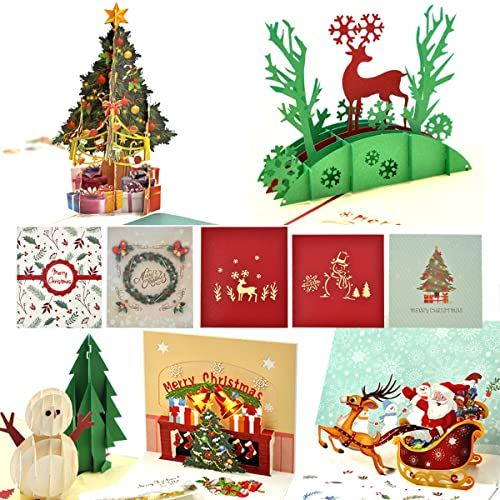 93c513391f3da Tarjetas de Navidad 3D eZAKKA