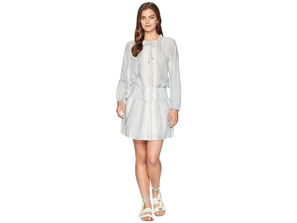 Splendid Smocked Waist Dress (White/Navy) Women
