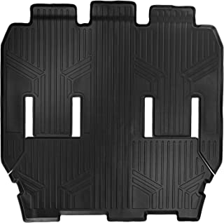 MAXLINER Floor Mats 2nd and 3rd Row Liner Black for 2017-2018 Chrysler Pacifica 7 or 8 Passenger Model (No Hybrid Models)