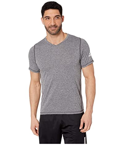 adidas Freelift V-Neck T-Shirt (Black Heather 1) Men