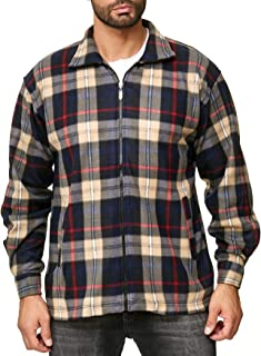 Homme Nouveau Polaire Doublé Hiver Rembourré Bûcheron à deux poches à Carreaux Chemise Travail