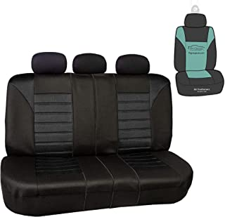 FH Group FB068013 Premium 3D Air Mesh Split Bench Seat Cover w. Gift, Solid Black Color- Fit Most Car, Truck, SUV, or Van