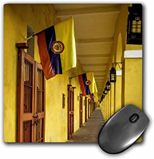 """3D 玫瑰哑光鼠标垫 - 8 x 8 San Diego Section Of The Old City Cartagena Colombia. 8 x 8"""""""