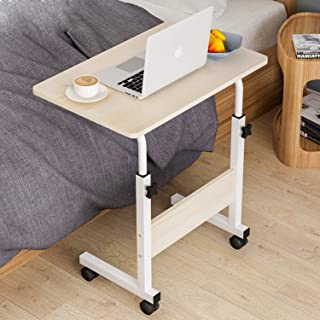 Mumoo Bear Adjustable Laptop Table Computer Table Desk for Bedroom Living Room Office Over Sofa Table 60x40cm ,Beige