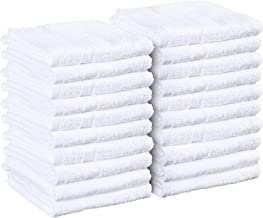 Utopia Towels Salon Towels, 24 Pack (Not Bleach Proof, 16 x 27 Inches, White) Hand Towels, Gym Towels