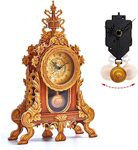 new arrival CubicFun 3D Puzzle for Adults Kids Pendulum Desk Clock Model Kit, Vintage Table Clocks Craft Kits, Foam Board high quality Clocks for Living Room Decor and Birthday Gifts for high quality Women Men, 128 Pieces online sale