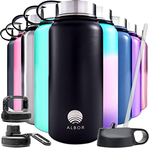 lowest ALBOR Insulated Water Bottles with online Straws Insulated Water Bottles wholesale 32 Oz outlet online sale