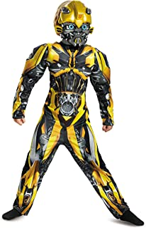 Disguise Bumblebee Movie Classic Muscle Costume, Yellow, Small (4-6)