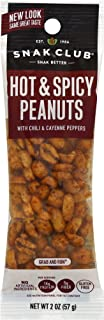 Snak Club All Natural Hot & Spicy Peanuts, Gluten Free, Non-GMO, 2-Ounces, 12-Pack