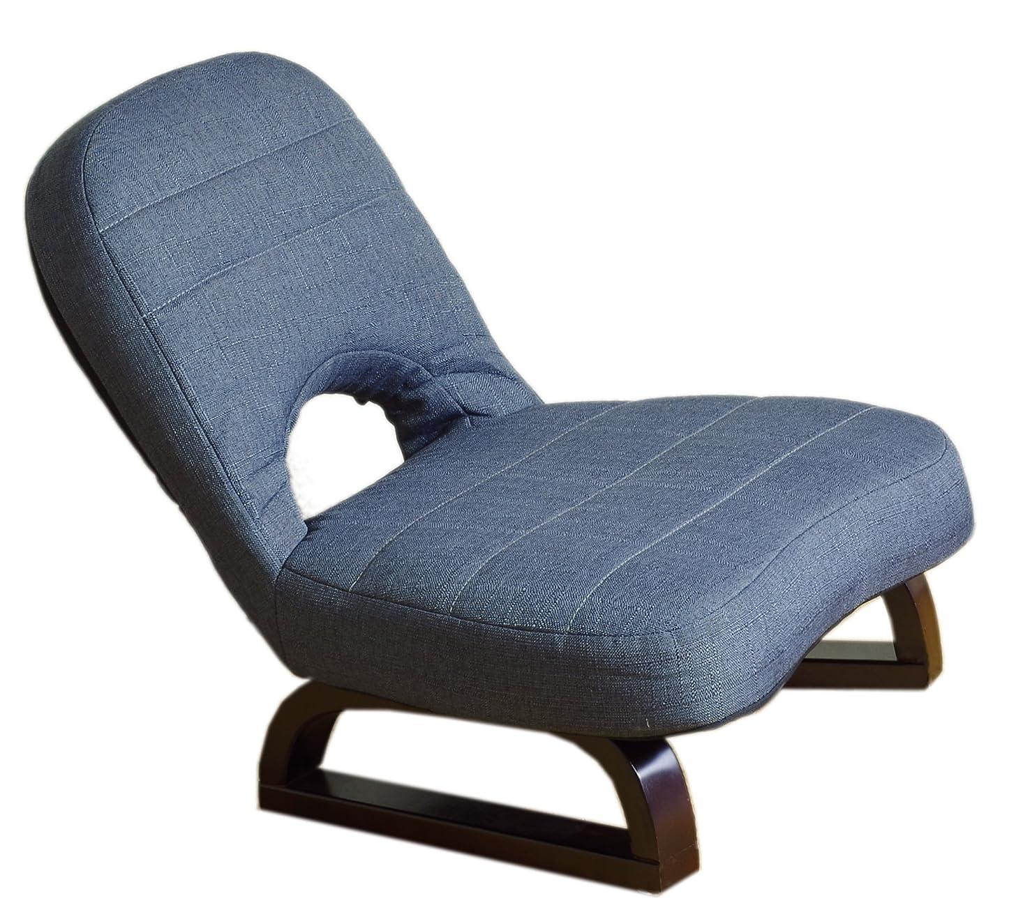 規制する生態学一般化するまごころあぐら座椅子 ネイビー SZH-バラクNV