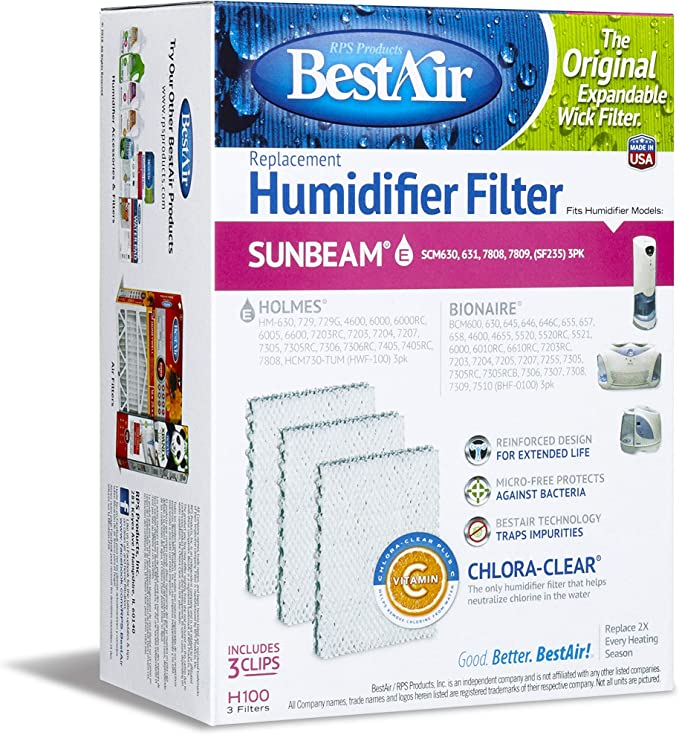 3 Filters New Sealed BestAir Humidifier Filter H100