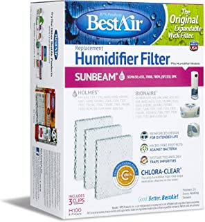 "BestAir H100, Holmes Replacement, Paper Wick Humidifier Filter, 5.8"" x 3.4"" x 7.8"""