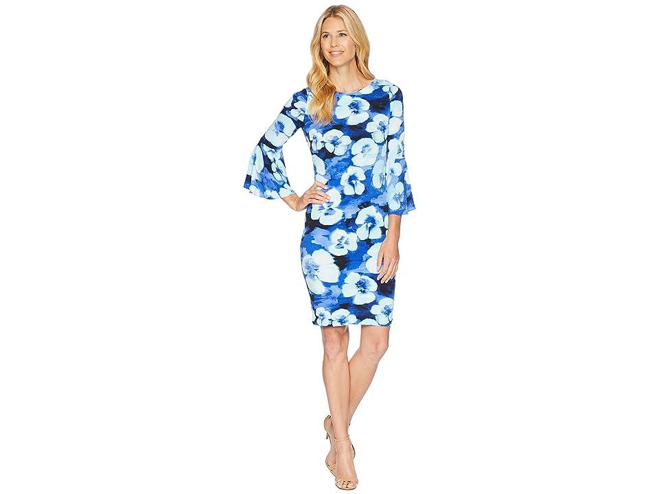 Calvin Klein Floral Print Bell Sleeve CD8AJ33E (Regatta Multi) Women