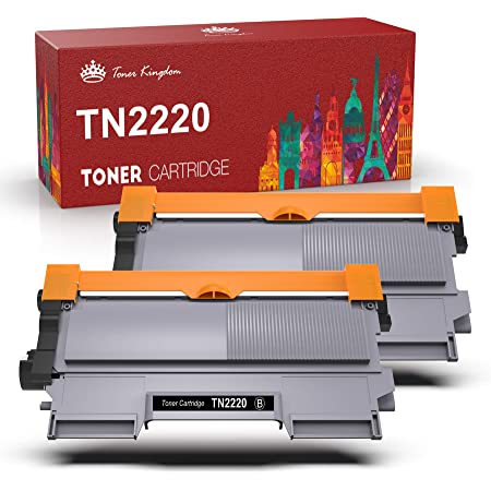 TonerKingdom TN2220 Cartuccia Toner Compatibile per Brother TN2220 TN2010 per Brother MFC 7360N HL 2130 HL 2240 DCP 7055 DCP 7060D DCP 7065DN FAX 2840 MFC 7460dn HL 2135W HL 2250DN DCP 7070DW (2 Nero)