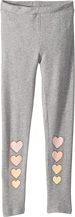 Extra Soft Love Knit Hearts Leggings (Big Kids)