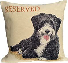 Amber Textile Dog Tapestry Throw Pillow Covers Cases Decorative Cushion Covers Pillowcase Cushion Case for Sofa, Couch.18 x18 Inches - Reserved Doggy