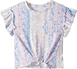 Aubrey Tie Front Knot Shirt (Big Kids)