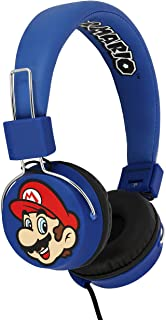OTL On-Ear Tween Headphone - Mario & Luigi Folding Headphones with Microphone - Compatible with all devices such as iPads ...