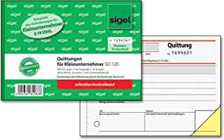 Sigel SD120 Business Form - Business Forms (A6, White, Yellow)
