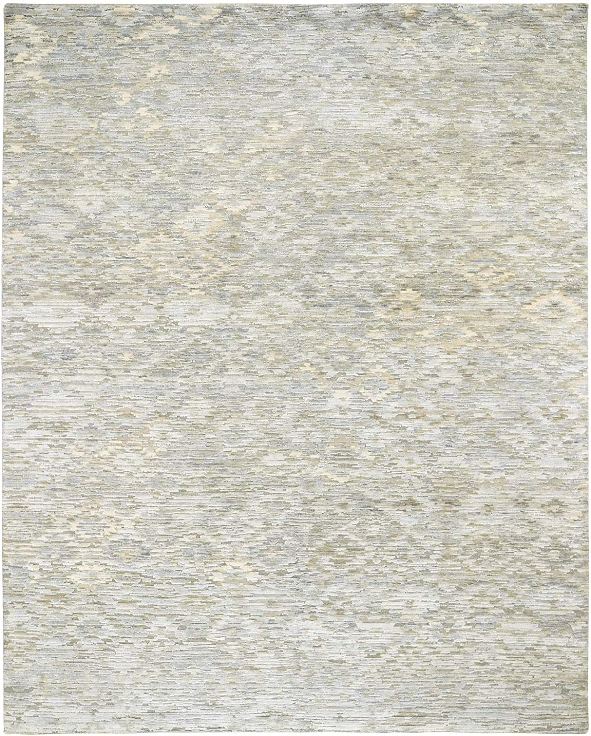 8'x10' THE PASTEL COLLECTION Silk Hand With shipfree Textured Knotte 5% OFF Wool