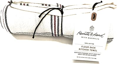 Hearth & Hand with Magnolia Flour Sack Kitchen Towel Striped Red/Black