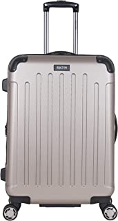 Kenneth Cole Reaction Renegade 24-Inch Lightweight Hardside 8-Wheel Spinner Expandable Checked Suitcase, Champagne