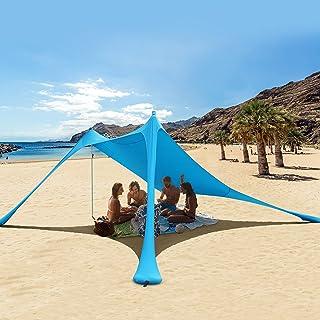 RESVIN Pop Up Beach Tent Sun Shelter UPF50+ Portable Lightweight Beach Sunshade, Outdoor Family Camping Fishing Picnics Ta...