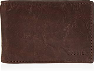 Fossil Men's Ward Leather RFID Blocking Money Clip Bifold Wallet