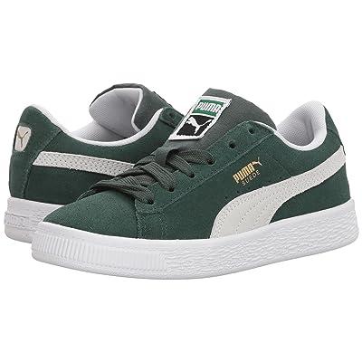 Puma Kids Suede Classic (Little Kid) (Pineneedle/PUMA White) Boys Shoes