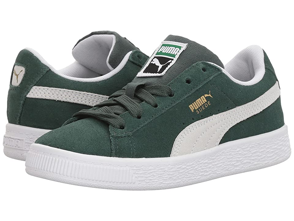 Puma Kids Suede Classic (Little Kid) (Pineneedle/PUMA White) Boys Shoes
