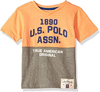 U.S. Polo Assn. Boys' Short Sleeve Fancy V-Neck T-Shirt