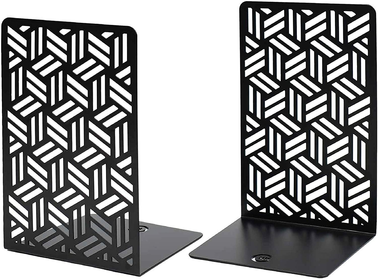 CNK Bookends Premium Book Ends Max 65% OFF En Metal for Shelves Boston Mall